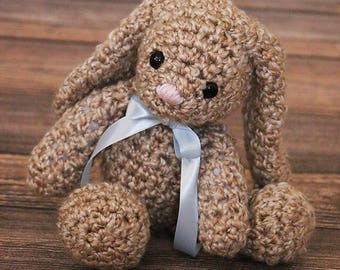 Cute Floppy Bunny Toy - Crochet Baby Bunny Toy - Easter Gift - Amigurumi Stuffed Bunny - Soft Bunny Plush - New Baby Gift - Baby Shower