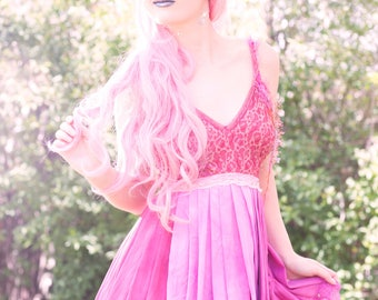 Unicorn Rainbow Princess Hot Pink Mini Dress