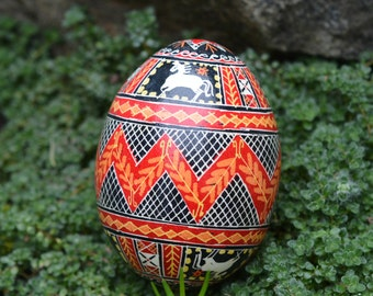 Ornament with Horses Pysanka Ukrainian Easter egg tree Easter Sunday basket Spring holidays