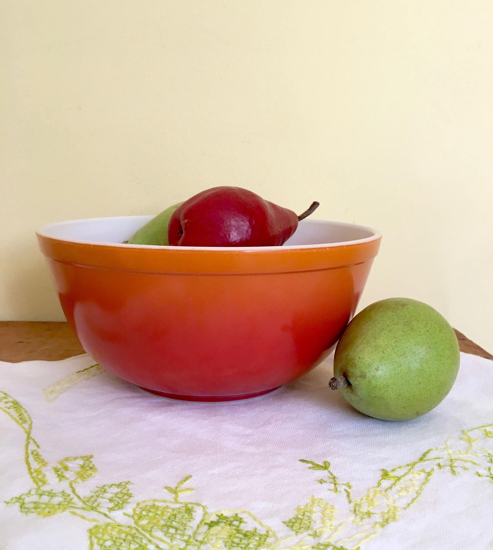 Vintage Pyrex Orange Bowl, Flameglo #403, 2.5 Quart Mixing Bowl ...