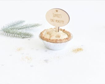 My First Mince Pie Personalised Mince Pie Topper