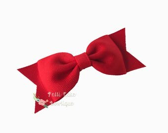 Red Hair Bows for Pigtails/Red Hairbows/Red Hair Clip Barrette/Red Bow/Toddler Hair Bows/Girls Hair Bows/Christmas Bow/Baby Hair Bow Clip