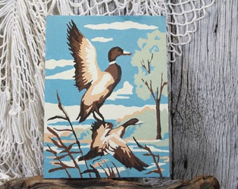 """Duck Painting, Paint By Numbers, Vintage Paint by Numbers, PBN 8"""" x 6"""""""