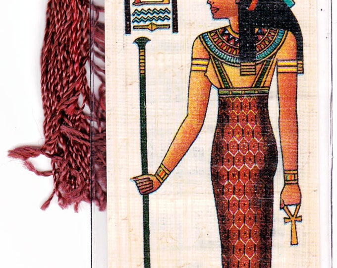 NEW! Goddess of truth, justice and balance. Egyptian Papyrus Bookmark.Makes a great gift for any occasion! Unique, inexpensive gift!