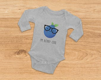Baby Shower Gift, Hipster Onesie, Funny Onesie, I'm Berry Cool, Baby Girl Onesie, Baby Boy Onesie, Funny Baby Gift, Christmas Baby Gift