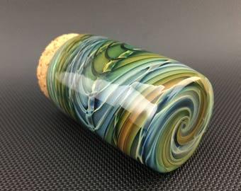 Wrap & Rake Glass Jar // Airtight Lake Green Pocket Jar