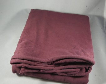 5/8 yard Maroon Brown Hand Dyed Organic Cotton Jersey Knit Fabric Remnant Made in the USA