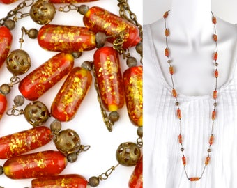 long 1920s necklace 38"