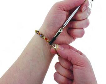 EZ Hook Bracelet Fastener Jewelry Helper Tool, 3-in-1 Necklace Fastener, Zipper Pull, Button Buttoner, #1601