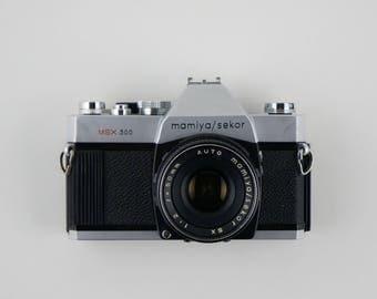 1970's Mamiya/Sekor MSX 500 35mm SLR Camera + 50mm Auto SX Lens