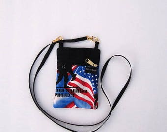 Wounded Warrior Cell Phone Purse or Water Bottle Purse