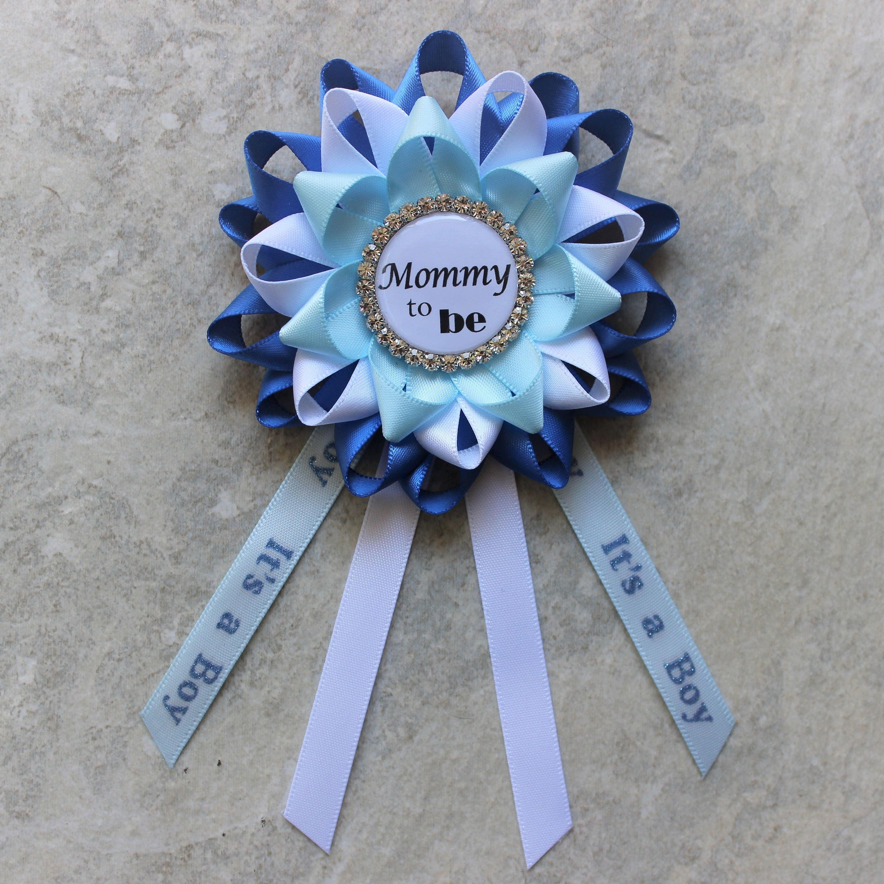 Boy Baby Shower Pin Baby Boy Shower Corsage Mommy to Be