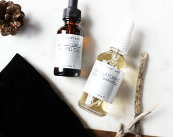 Gifts for Men | Beard Set | Beard Oil + Beard Shampoo | Mens Grooming Kit | 100% natural and vegan beard kit | THE SUAVE SIR