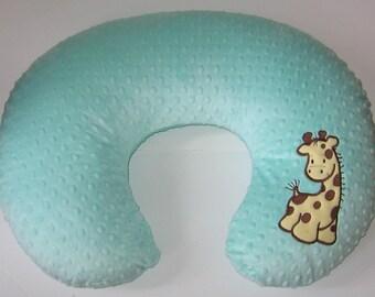 Boppy Cover, Giraffe, Boppy Slipcover,Boppy Pillow Cover, Nursing Pillow Cover, Minky Boppy, Baby Item, Baby Girl, Baby Boy, Color Choices,