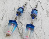 Candlelight Pink & blue Dangle Earrings Jewelry