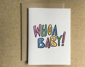 Whoa Baby! - New Baby Card