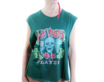 Vintage LAS VEGAS Shirt 1990s Concert Shirt Band Tee Boho Hippie Rocker guns n roses shirt Metallica shirt Grateful Dead shirt Rocker