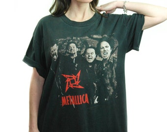 Vintage Metallica shirt 1996 On the LOAD again Concert shirt Band tee XL