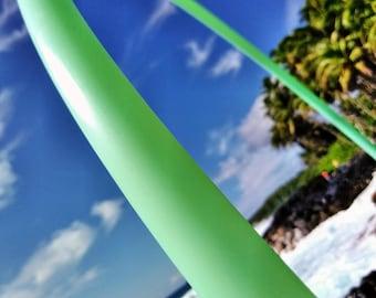"5/8"" UV Mojito Mint Color Polypro Hula Hoop with Custom Diameter & Grip Options!"