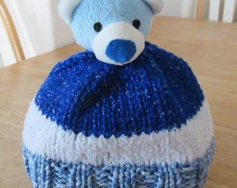 Childs Knitted Character Hat - Teddy Bear Hat
