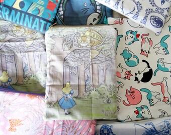 Trousse pochette en tissu Alice, Totoro et le Chat-bus