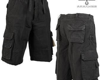 Black US Prewash Aviator Shorts
