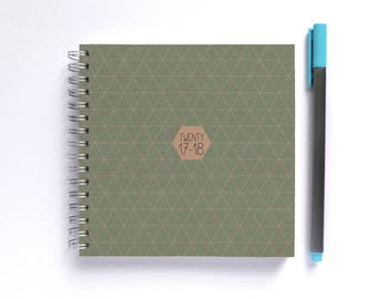 HALF PRICE! 2017-18 Weekly Planner • SMALL 14cm/5.5in Square • Geometric Choose Your Colour