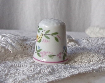 Vintage Porcelain Thimble Sewing Notions Thimble Collector Sewing Room Made In Portugal 1980s