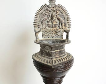 Oil Lamp Kamakshi Lakshmi Votive India Diwali