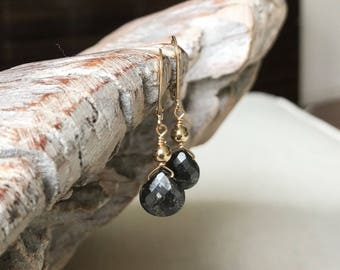Pyrite Earrings in Gold or Silver