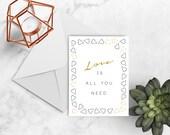 Love Greeting Cards, Love Cards, Greeting Cards, Printable Greeting Card, Greeting Card, Printable Card, Download Card, Inspirational Card