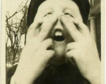 "Vintage Photo ""The Beautiful Boy"" Snapshot Antique Black & White Photograph Found Paper Ephemera Vernacular Interior Design Mood"