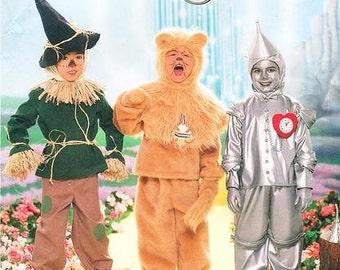 Sz  3/4/5/6/7/8 - Simplicity 4133 - Boys' Costume - The Wizard of Oz - Lion, Tin Man and Scarecrow