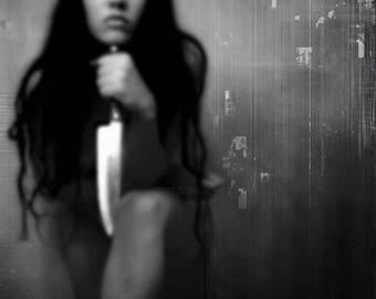 Mrs. Myers Dark Art Photograph Photomanipulation Macabre Horror Portrait Original Art Sold By Artist Online