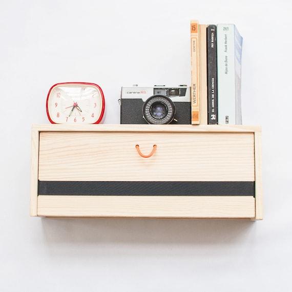 Floating Box Shelf floating wood nightstand modern floating shelf with drawer