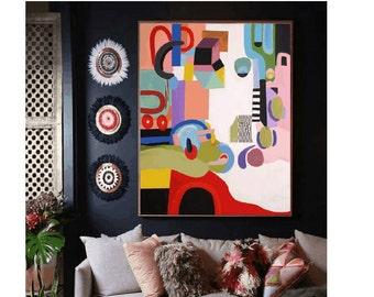 "abstract painting 54"" wall art canvas   Painting,-large abstract painting - abstract painting on canvas"