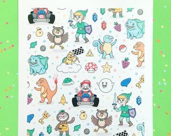 Nintendudes Art Print - Nintendo, Gaming, Zelda, Mario, Animal Crossing, Pokemon