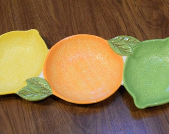 Citrus Fruit Serving Tray, Serving Tray, Ceramic Serving Tray, Fruit theme decor, Fruit decor