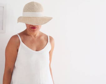 Women clothing, linen camisole, women camisole, top tank, linen clothing, linen top tank, summer wear, made in Italy, sustainable clothing