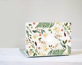 Flower Macbook Decal - Genuine Flower and Leaf Foliage MacBook Laptop Skin