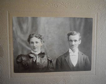 Mr & Mrs. Leo Bull ~ Soul Mates, Antique photograph, Portrait, Victorian, Edwardian