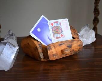 Small Vintage Hand Carved Driftwood Personality Box ~ Woodland, Magickal, Treasure