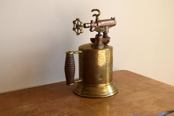 Antique Brass Blow Torch - Industrial, Urban, Rustic, Steampunk, Man Cave