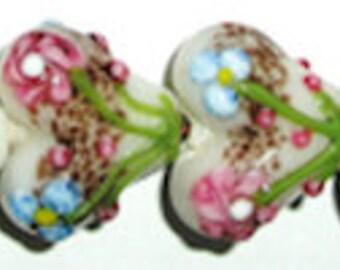 10 pieces 20mm Heart Beads, Glass Heart Beads, Lampwork Heart Beads