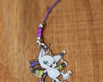 Gatomon V2 - Digimon Phone Charm