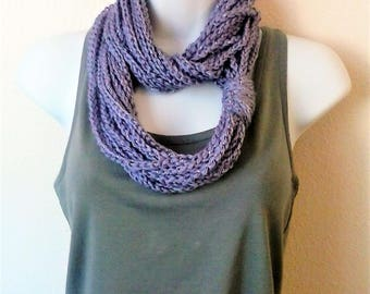Chain Scarf - Infinity Scarf - Necklace Scarf - Circle Scarf - Light Purple Metallic - Violet Sparkle