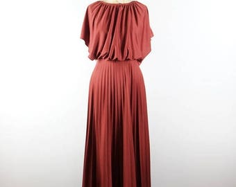 CLEARANCE SALE marsala temptation | quiana 70s dress | maxi gown | maxi dress | small/s