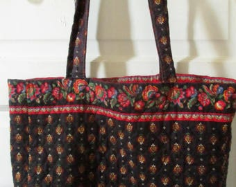 Quilted Cotton Tote Bag