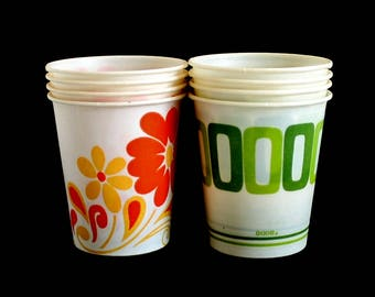 5 oz Dixie Cups Small 1970s Kitchen / Bathroom Vintage Disposable Paper Cup
