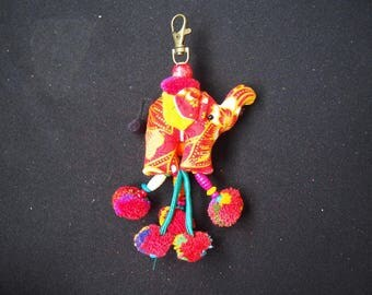 Thai handmade elephant Key-chain/ KC-031/Lobster keychain/Elephant keychain/Handmade keychain/Father's day gift for him/For dad/Summer keych